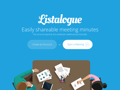 Listalogue notes meeting listalogue