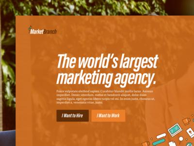 MarketBranch Concept landing page
