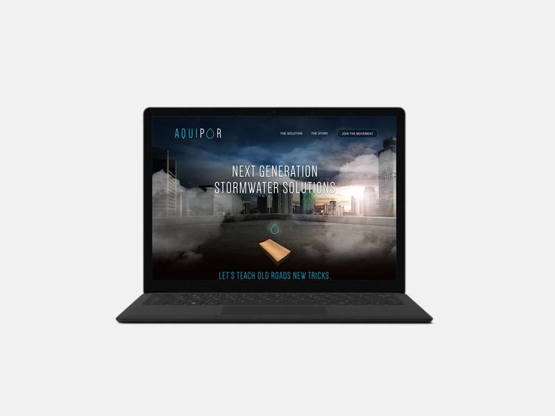 AquiPor Website branding ui design web design