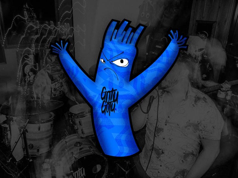 Wavy Man Sticker design merch music