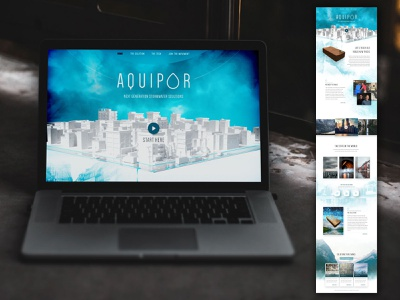 AquiPor Website branding website website design