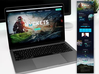 Buckets Website software design branding website design website