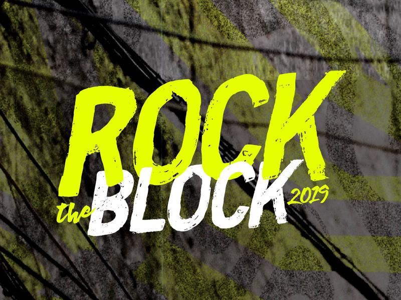 Rock the Block Fest 2019 logo brand music music festival