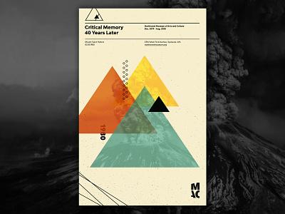 Mt. St. Helens experience branding design print poster brand