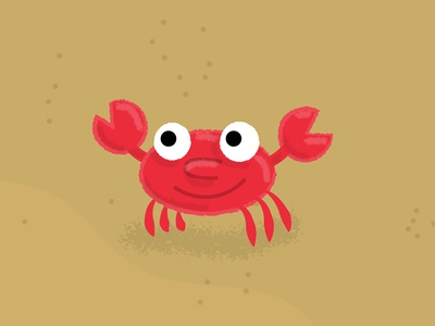 Happy Crab character design illustration vector