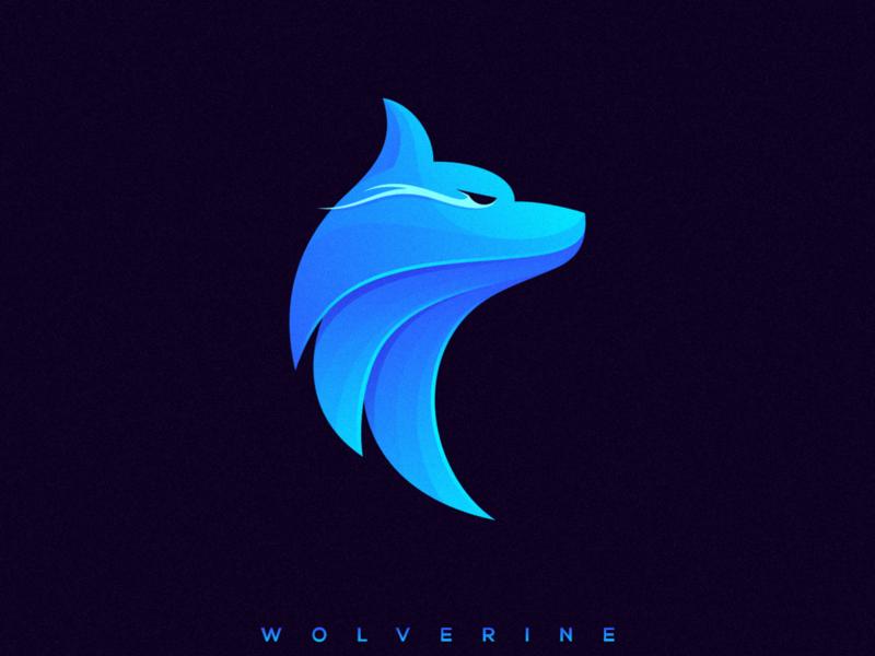 W O L V E R I N E wolf app icon icon ux ui character illustrator simple colorful branding design identity logo