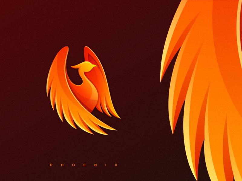 phoenix phoenix logo character logodesign ux app icon icon illustrator ui colorful brand branding design identity logo
