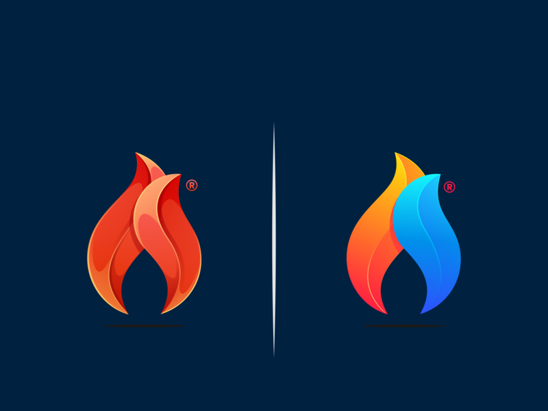 which one do you prefer? icon ux ui simple colorful brand branding design identity logo