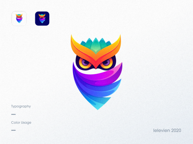 owl logo bright owl logo owl logodesign cute illustrator simple colorful brand branding design identity logo