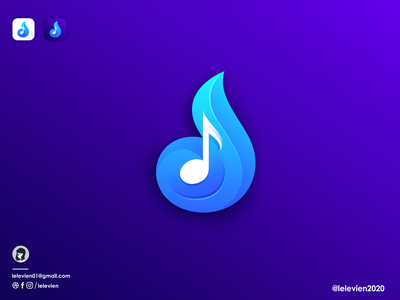 music icon app icon note music icon logodesign cute illustrator simple colorful brand branding design identity logo