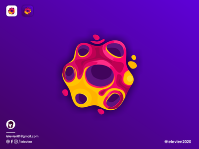 lava planet icon lava planet illustrator simple colorful brand branding design identity logo