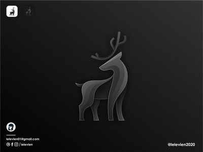 dark deer logo antler deer mascot illustration vector illustrator simple colorful brand branding design identity logo