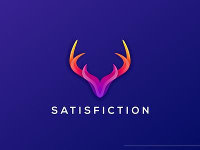 colorful deer logo mascot animal deer vector icon cute illustrator simple colorful brand branding design identity logo