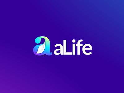 alife logo design nature leaf a letter business logodesign cute illustrator simple colorful brand branding design identity logo