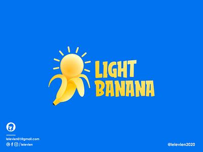 light banana logo bulb banana logodesign cute illustrator simple colorful brand branding design identity logo