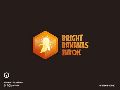 Bright Banana Inbox vector ui illustration business logodesign cute illustrator simple colorful brand branding design identity logo
