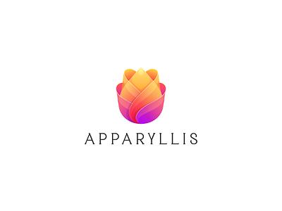 Apparyllis logo design nature rose flower logodesign cute illustrator simple colorful brand branding design identity logo