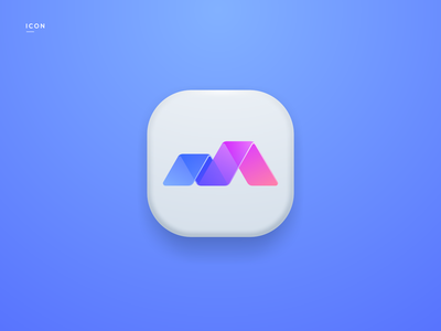 Mountain Brother Logo mountain icon app logodesign cute illustrator simple colorful brand branding design identity logo