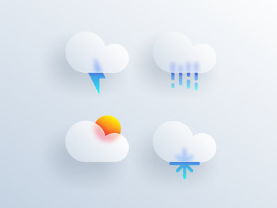 weather icon glass ios weather app icon logodesign cute illustrator simple colorful brand branding design identity logo