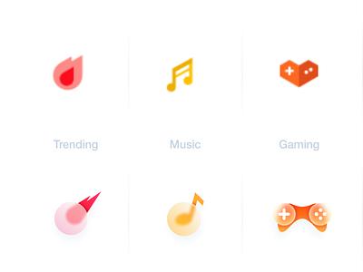 youtube 'explore' icon redesign ux ui website icon app logodesign cute illustrator simple colorful brand branding design identity logo