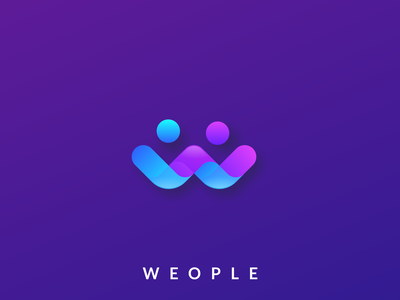 Weaple logo design w people app icon logodesign cute illustrator simple colorful brand branding design identity logo