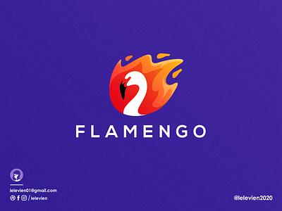 flamengo orange bird animal fire flame website app icon flamingo logodesign cute illustrator simple colorful brand branding design identity logo