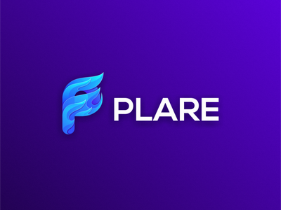 Plare logo design gradient modern website app icon p flare flame logodesign cute illustrator simple colorful brand branding design identity logo