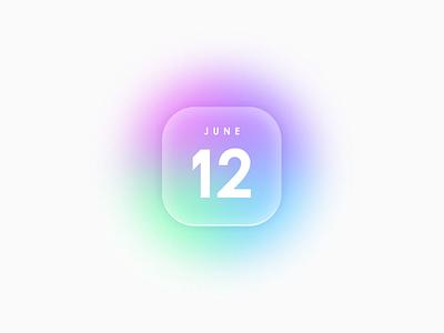 June 12 icon website calendar app icon vector ui illustration simple colorful brand branding design identity logo