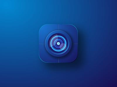 Camera Icon editing photo camera app icon ui illustration simple colorful brand branding design identity logo