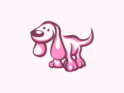 dog business identity branding dog home color simple illustrator logo