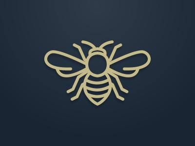 line art bee