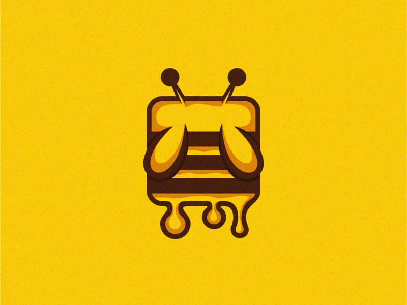 melting bee character logodesign designer illustrator colorful cute brand branding design identity logo