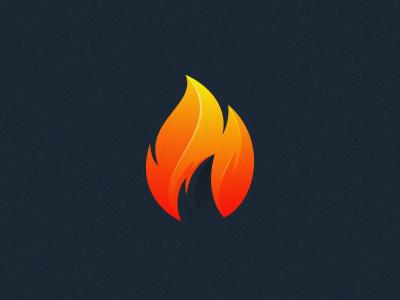 fire flame fire logodesign illustrator simple colorful branding design identity logo