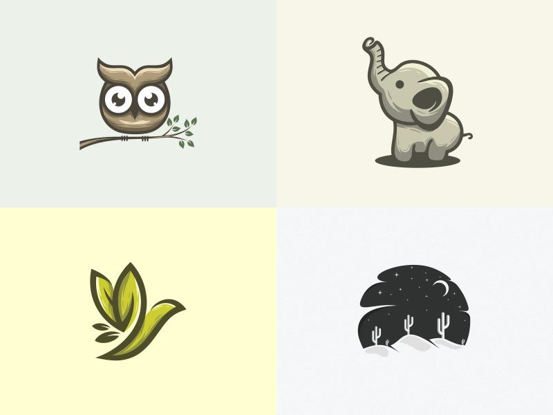 2018 illustrator simple cute colorful branding design identity logo