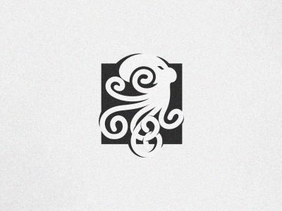 octopus designer illustrator simple cute branding design identity logo
