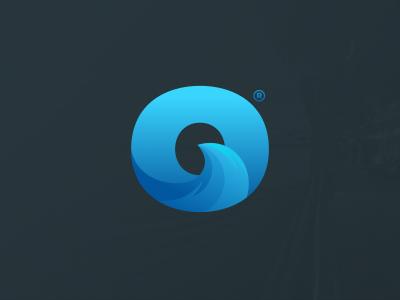 O wave logo letter wave logo blue sea designer logodesign business illustrator simple cute colorful brand branding design identity logo