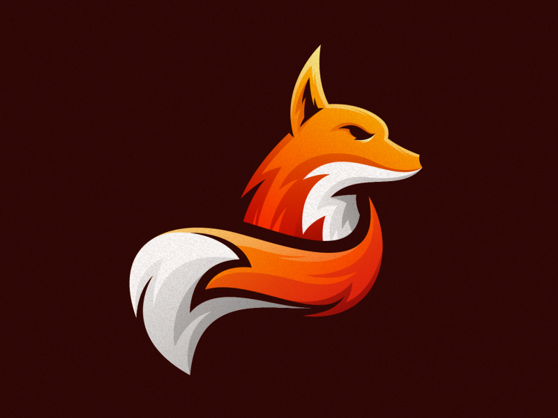 fox logo design fox logo design fox tail fox business character logodesign illustration vector illustrator simple colorful branding design identity logo