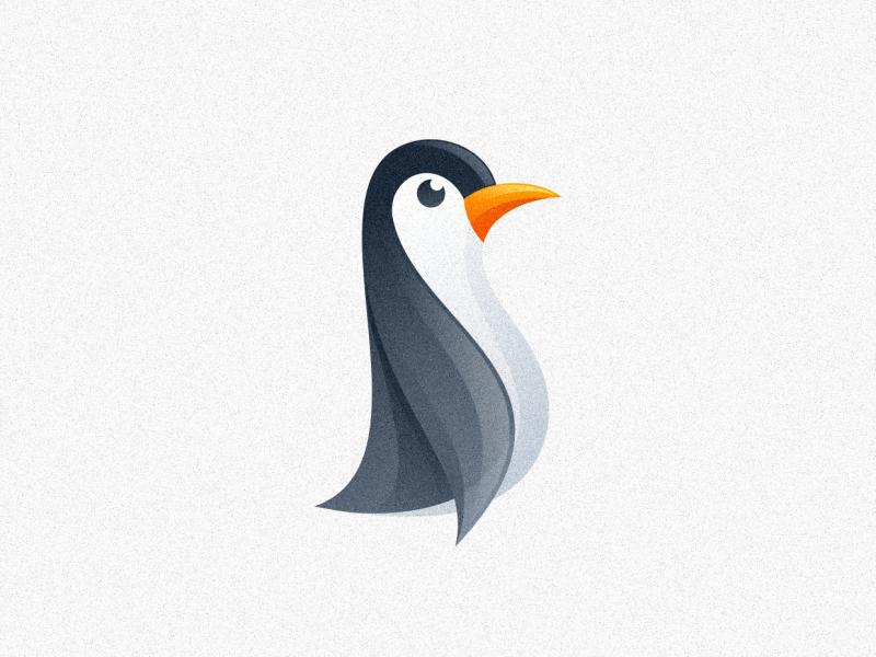 penguin logo design designer illustration wing animal vector character black logodesign business illustrator simple cute colorful brand branding design identity logo