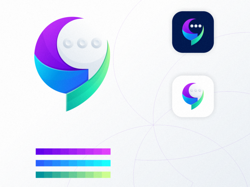 colorful chat bubble icon ux ui logodesign colorful icon design chat app app icon chat icon app chat bubble chat icon branding design identity logo