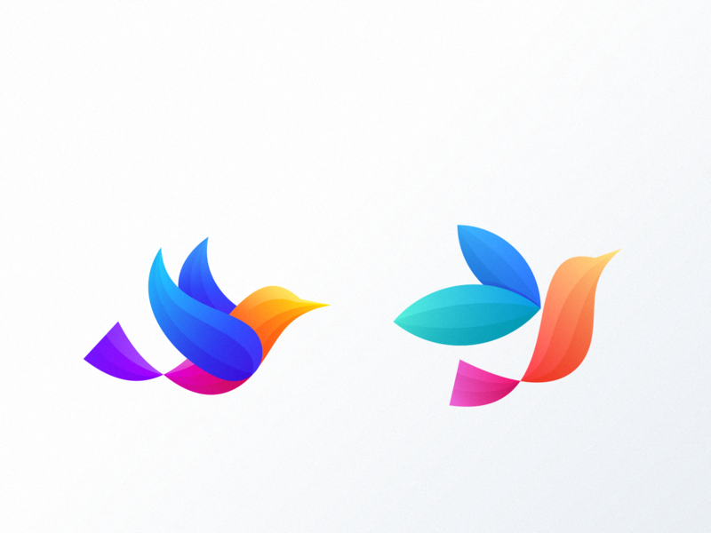 which one do you prefer? brand designer character ux ui app icon icon bird colorful cute logodesign branding design identity logo