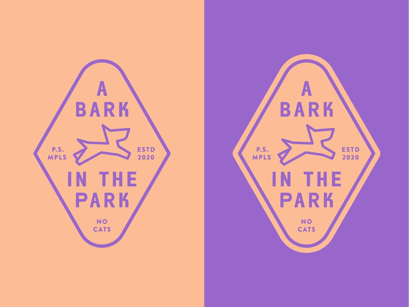 A Bark in the Park illustration logo badge lockup minneapolis sapient publicis park dog