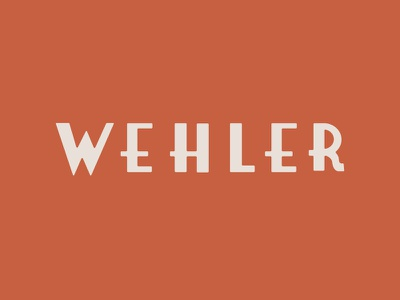 Wehler logotype logo name norwegian norway deco art typography custom type wells wehler