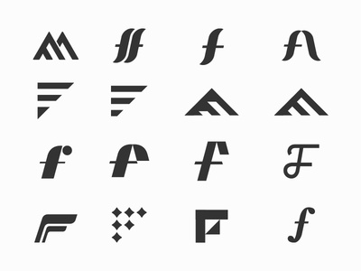 What the F typography type retro minneapolis lowercase logo letterforms letterform f custom branding