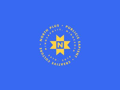 North Plus WIP bold north futura logos custom lockup lockups badge minneapolis logo