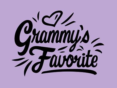 Grammy's Favorite ipad pro ipad t-shirt mockup t-shirt t-shirt design purple heart lettering grandma type custom logo