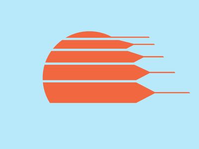 Sun sunset 1980s 1970s truck eighties seventies sun retro illustration minneapolis logo