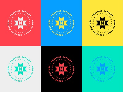 North Plus colors sapient publicis minneapolis 2019 north illustration lockups badge minnesota custom type lockup logo