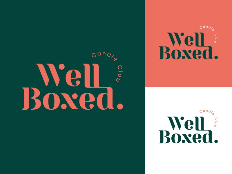 Well Boxed typography logo candle shop candle type logodesign typography mark brand identity brand design logotype branding vector design logo
