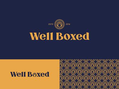 Well Boxed candleshop candle brand identity design identity pattern logodesign typography mark brand identity brand design logotype branding vector design logo