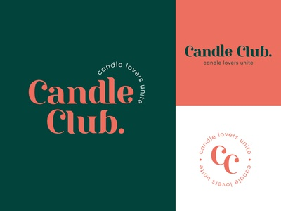 Candle Club elegant branding and identity candle brand logodesign typography mark brand identity brand design logotype branding vector design logo